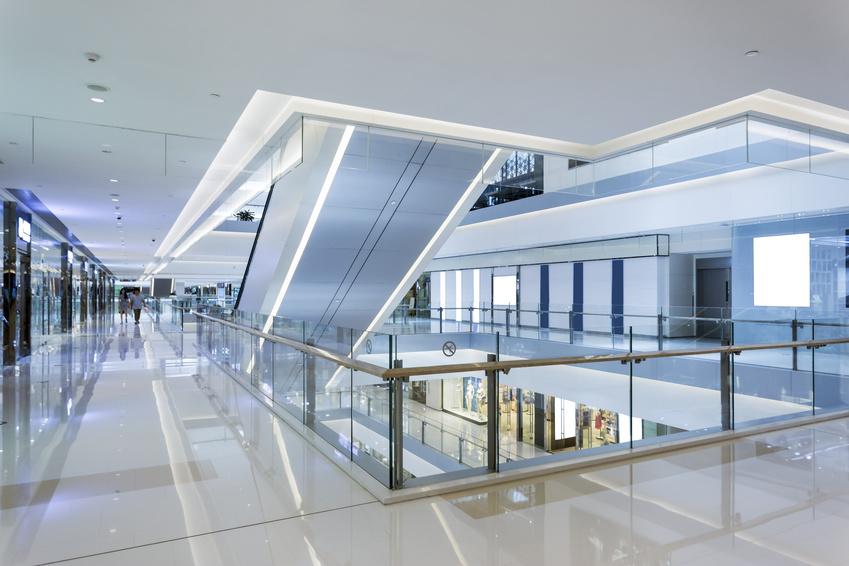 Innenansicht Einkaufscenter